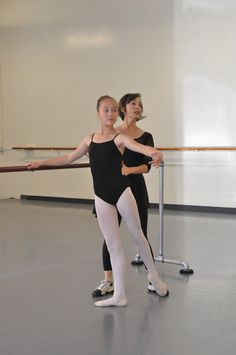 Ballet teacher and student. Please check out my post for two exercises for improving your turnout!
