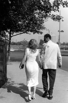 Marilyn Monroe with Arthur Miller. by shadees, via Flickr