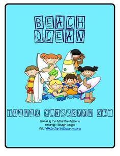 Beach~Ocean~Tropical Themed Classroom Kit ~ Ideas and Printables