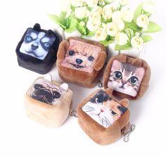 2018 New Square Coin Purses Wallet Ladies 3D Cats Dogs Animal Big Face Change Fashion Cute Headphones Zipper Bag For Women , https://myalphastore.com/products/2018-new-square-coin-purses-wallet-ladies-3d-cats-dogs-animal-big-face-change-fashion-cute-headphones-zipper-bag-for-women/,