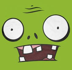 Illustration de zombie - à coller sur un t-shirt au papier transfert / à coller sur des boîtes de conserves pour un chamboule tout / à utiliser pour une carte d'anniversaire...