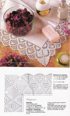This Pin was discovered by Cri Crochet Boarders, Crochet Lace Edging, Crochet Fabric, Crochet Trim, Filet Crochet, Crochet Doilies, Knit Crochet, Lace Patterns, Crochet Patterns