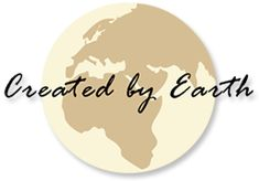 Logo van Created By Earth #BiologischeMode, #FairFashion, #EcoStyle, #OrganicFashion, #whippetsandTees