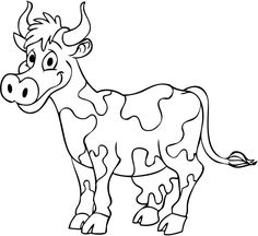Cow coloring page - Animals Town - Animal color sheets Cow picture