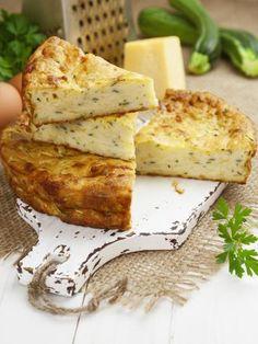 Flan de courgettes facile et rapide Plats Cuisinés, Gratin, Cornbread, Mashed Potatoes, Banana Bread, Quiches, French Toast, Breakfast, Cooking