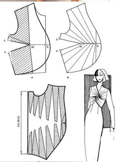 The best DIY projects & DIY ideas and tutorials: sewing, paper craft, DIY. DIY Women's Clothing : Twisted knot on bodice -Read Dress Sewing Patterns, Sewing Patterns Free, Sewing Tutorials, Clothing Patterns, Techniques Couture, Sewing Techniques, Sewing Clothes, Diy Clothes, Pattern Draping