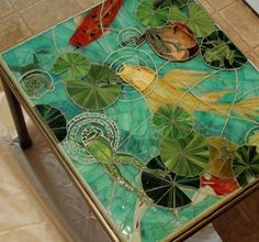 Amazing tiled furniture. . . #tables . . #mosaic Re-Scape.com . . #furnishings