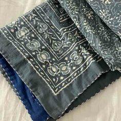 Cotton Bedspread Quilt Kantha - Mist Queen Size Queen Size Quilt, Queen Size Bedding, Embroidered Quilts, Kantha Stitch, Blue Quilts, Kantha Quilt, Bedspread, Cotton, Quilt Cover