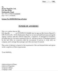 power of attorney letter template free microsoft word ...