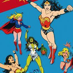 My PauwPauw banner with all my favorite superheroines ♥💙💚!!!! #pauwpauwproducts #wonderwoman #shehulk #supergirl #superheroines
