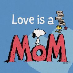 Snoopy & Woodstock~ Love is a Mom