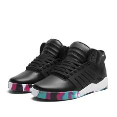 "Supra Skytop III ""Marble"". I see these everyday at a local skateshop window and I want them so bad but I'm broke :("