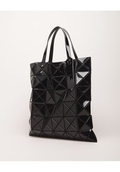 Yet another BAO BAO ISSEY MIYAKE piece—this time a shiny tote.