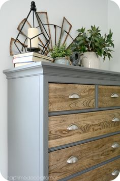 Elegant dresser makeover - would be beautiful in the bedroom