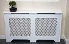 Classic radiator cover design by Amber Radiator Covers Wall Radiators, Best Radiators, Decorative Radiators, Living Room Decor On A Budget, Interior Design Living Room, Radiator Covers Ikea, Victorian Radiators, Bay Window Living Room, Victorian Hallway