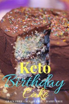 This Keto Birthday Cake is low carb grain free sugar free and dairy free! Make this for your low carb kids next birthday! This Keto Birthday Cake is low carb grain free sugar free and dairy free! Make this for your low carb kids next birthday! Low Carb Desserts, Low Carb Recipes, Dessert Recipes, Paleo Dessert, Breakfast Recipes, Mini Hamburgers, Keto Brownies, Cream Cheeses, Halloumi