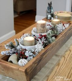 Christmas Home Tour..I want a box like this for my table.