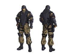 ArtStation - Soldier concept, Bert Lewis