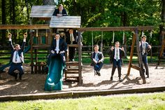 These guys took advantage of the full church grounds and enjoyed some time on the playground before the Tinsley/Pope wedding! Photo Credit: Love Shutter Photography