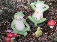 Zen frog Snail Mushroom Butterfly fairy garden set Figurine Miniatures Dollhouse