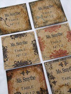 Victorian Wedding - Rustic Escort Cards