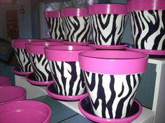Items similar to Flower Pot Party Favors, Centerpieces, Or Party Decor on Etsy Flower Pot Art, Flower Pot Design, Clay Flower Pots, Flower Pot Crafts, Clay Pot Projects, Clay Pot Crafts, Shell Crafts, Painted Clay Pots, Painted Flower Pots