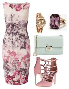 """""""Spring ready !"""" by mercyomondi on Polyvore featuring Adrianna Papell, Steve Madden, Ted Baker, Rolex and Ann Taylor"""