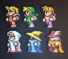 FF1 Characters - Perler Bead Sprites by Rusted Icon Designs
