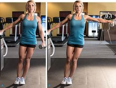 One-Arm Leaning Lateral Raises - Building Beautiful Shoulders Yoga Fitness, Fitness Tips, Fitness Motivation, Arm Challenge, Muscle Building Tips, Build Muscle, Workout Splits, Chico Fitness, Thigh Exercises
