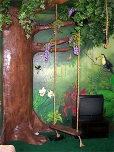 The twins would love this.    Deborah Joy-Children's Murals, Outdoor Murals…