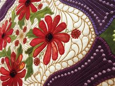Gypsy is a stunning new embroidered applique design for all quilters and embroiderers by SharonSchamber.