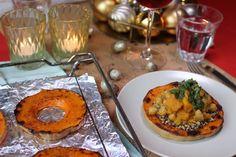 Vegan kerstrecept: Pompoenringen met curry -Lisa goes Vegan Yogurt Recipes, Veggie Recipes, Lunch Recipes, Dinner Recipes, Healthy Recipes, Veggie Food, Healthy Food, Garam Masala Chicken, Organic Homemade