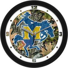 NCAA McNeese State Cowboys Camo Wall Clock