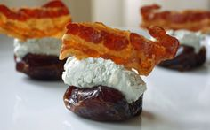 Stuffed #Dates – The Easy Appetizer People are coming over and nibbles are needed but serving chips and salsa is getting old and, while onion dip never goes out of style, it would be nice to put something new on the menu.  #TheCulinaryExchange