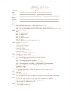 Wedding Itinerary Templates Free Wedding Template Projects To - Wedding invitation templates: free wedding itinerary template
