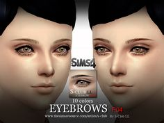 The Sims Resource: Eyebrows F04 by S-Club • Sims 4 Downloads
