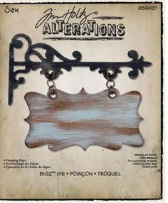 Sizzix - Tim Holtz - Bigz Die - Alterations Collection - Die Cutting Template - Hanging Sign at Scrapbook.com $16.99