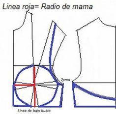 Trazo del brasier. | El costurero de Stella