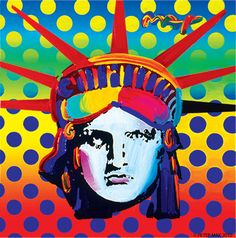 popartisforeveryone: Peter Max, Liberty