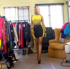 Nicki Minaj tours her wardrobe.