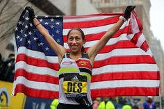 Desiree Linden fought through wind and rain on Monday to become the first American woman to win the Boston Marathon since Her victory came after she nearly bailed out during the race. Indoor Trainer, Half Ironman, Running Training, Running Humor, Running Tips, Trail Running, Ironman Triathlon, Boston Marathon