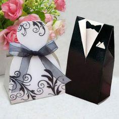 Boîte Dragées Mariage Couple Mariés Noir & Blanc par Un Jour Spécial : accessoires & décorations de mariage