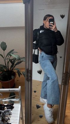 Retro Outfits, Cute Casual Outfits, New Outfits, Fashion Outfits, North Face Outfits, Mode Grunge, Mode Inspiration, Streetwear Fashion, Aesthetic Clothes