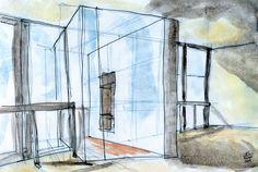 Estudo para um quarteirão em Telheiras, Lisboa, 2009 Study for a mixed use block in Telheiras, Lisbon, 2009 - living room of a T3. By Carlos Filipe