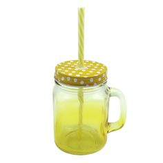MASON JAR IN YELLOW GRADIENT - Shop online at Candylicious! International shipping available. Dessert | Gifts | Cupcake | Kitchen | Candy