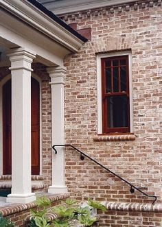 Savannah+Gray+Brick+Home+Exterior | Old Carolina Brick supplied the handmade brick for this post and wall ...
