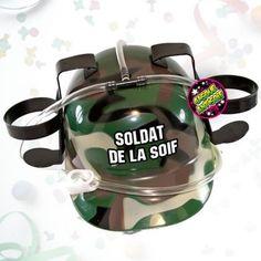 Casque à Bière Soldat de la Soif : Achat Cadeau Bière Festif sur Rapid-Cadeau.com