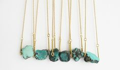 Make a turquoise statement necklace with this DIY.