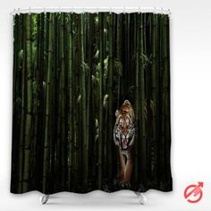 Cheap Tiger bamboo forests Shower Curtain