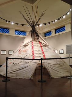 Tipi by No Two Horns (Sioux), c. 1910  On display and for sale in the Heard Museum Shop Collector's Room with The Amidon Ledgers.   February 10th-26th, 2017